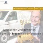 Webseite vom Goldenen Bulli 2018