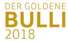 Das Logo vom Goldenen Bulli 2018