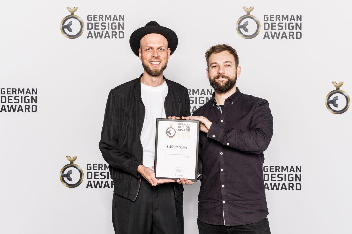 Designer Hardy Seiler und Hannes Buchholz beim German Design Award 2019