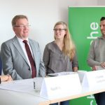 Nadine van Maanen, Andreas Westerfellhaus, Nora Wehrstedt, Jens Wackerhagen beim Pressegespräch
