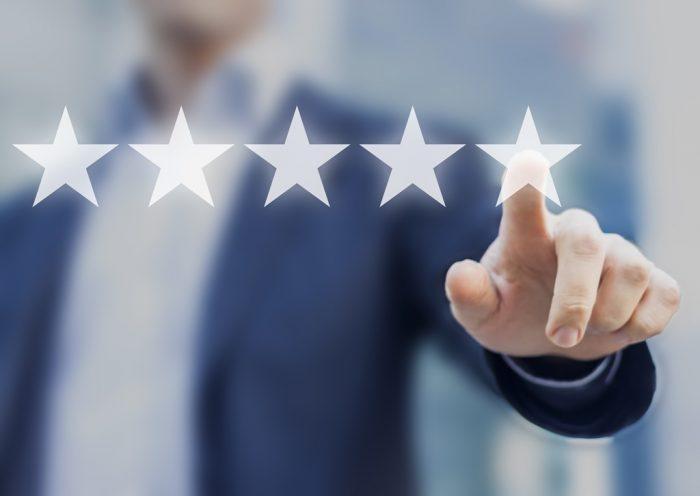 Kundenbewertung mit 5 Sternen
