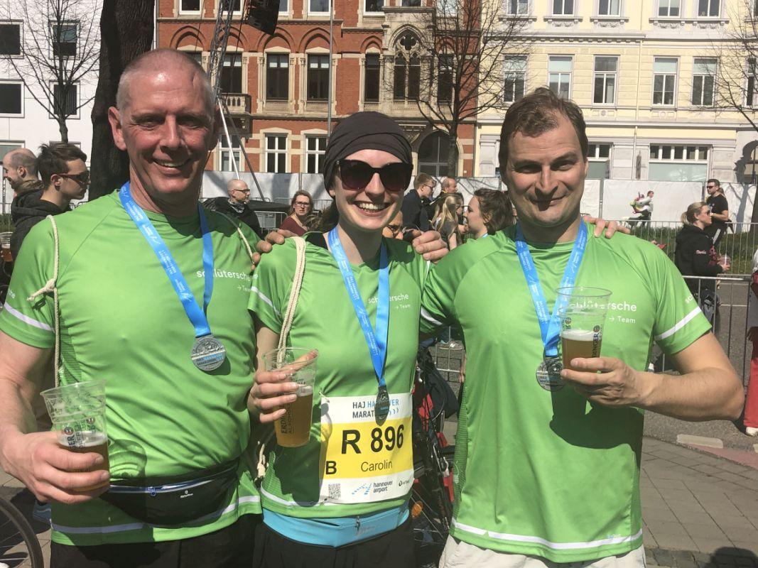Die Marathon-Staffel der Schlüterschen
