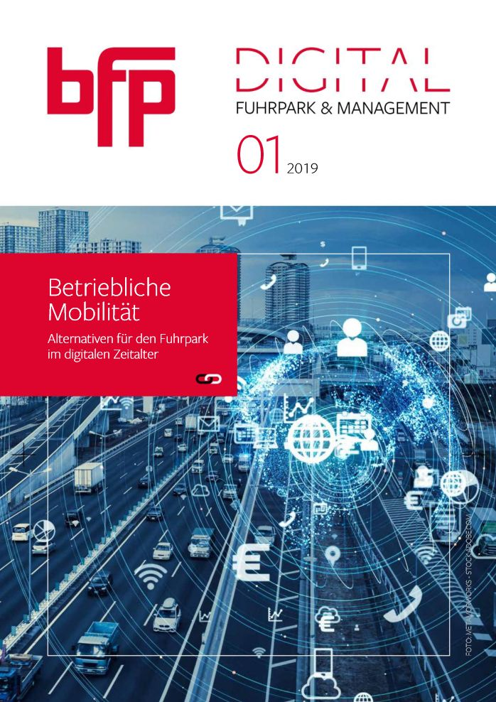 Titelseite bfp Fuhrpark & Management DIGITAL 01/2019