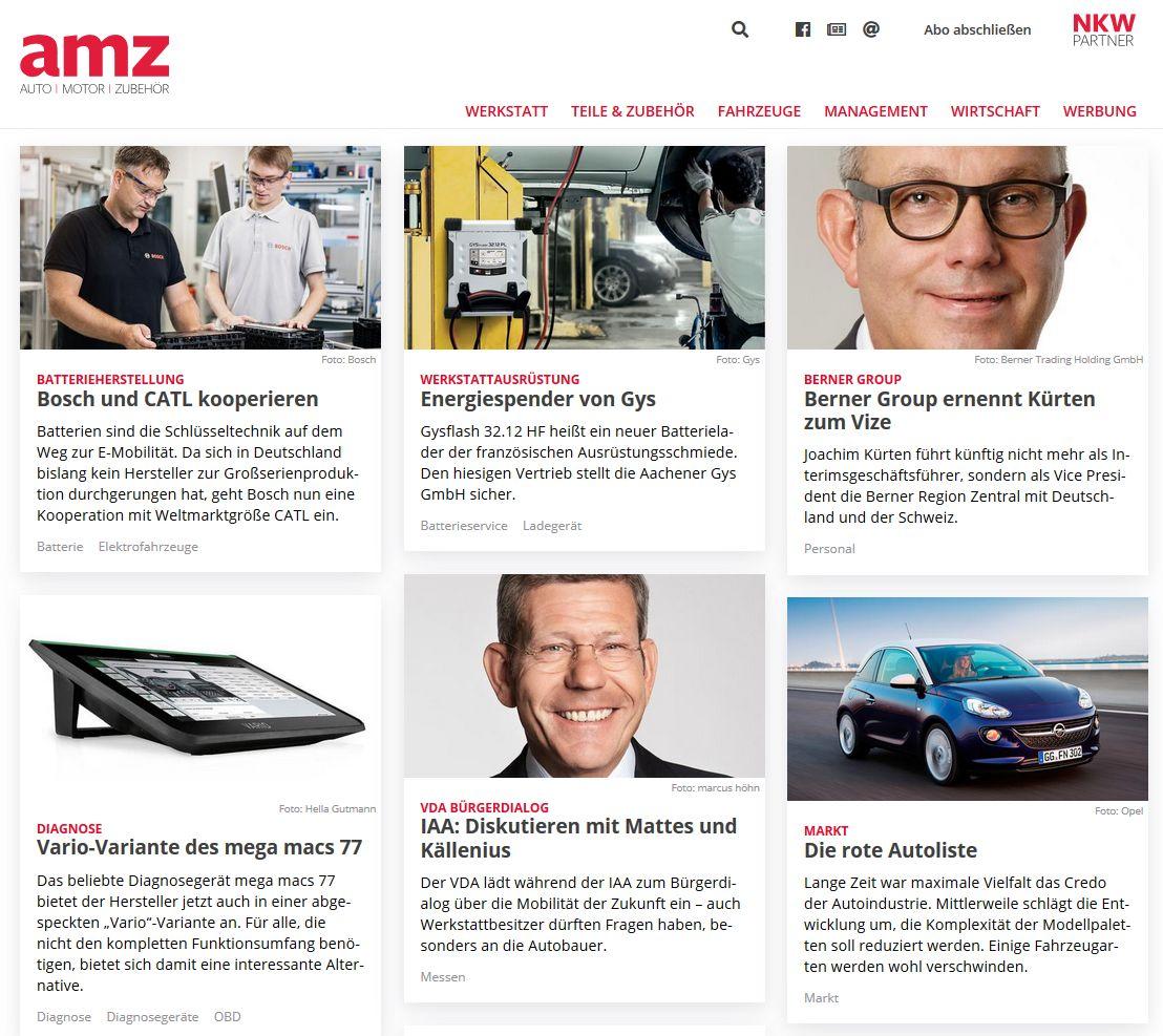 Der neue Web-Auftritt von amz.de