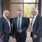Generationswechsel bei der K-Zeitung: Stefan Lenz, Joachim Rönisch, Günter Kögel